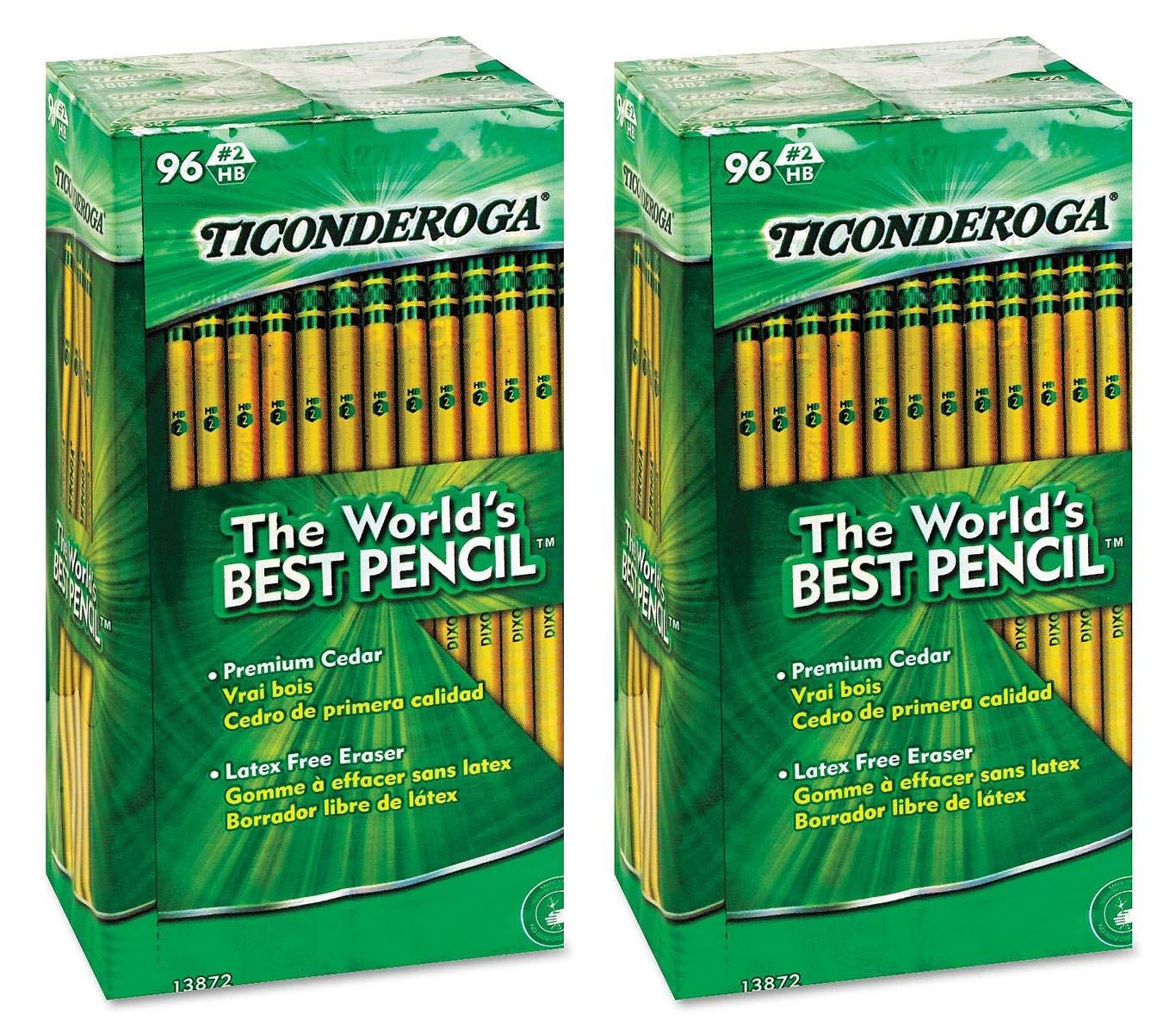 Dixon HDaUH Woodcase Pencil, HB #2, Yellow Barrel, 96/Pack 2 Pack
