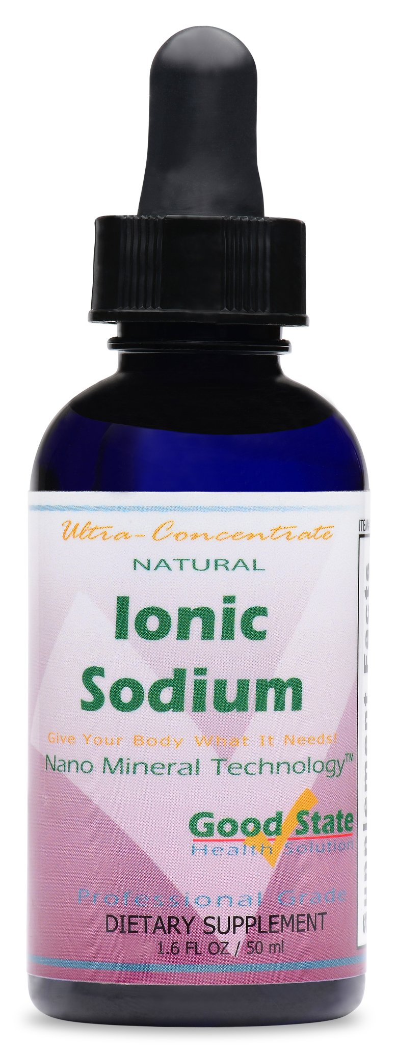 Good State Liquid Ionic Sodium Ultra Concentrate (10 drops equals 70 mg - 100 servings per bottle)