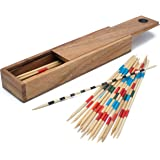 Wooden Pick Up Sticks: Handmade & Organic Traditional Wood Game for Adults from SiamMandalay with Free SM Gift Box(Pictured)