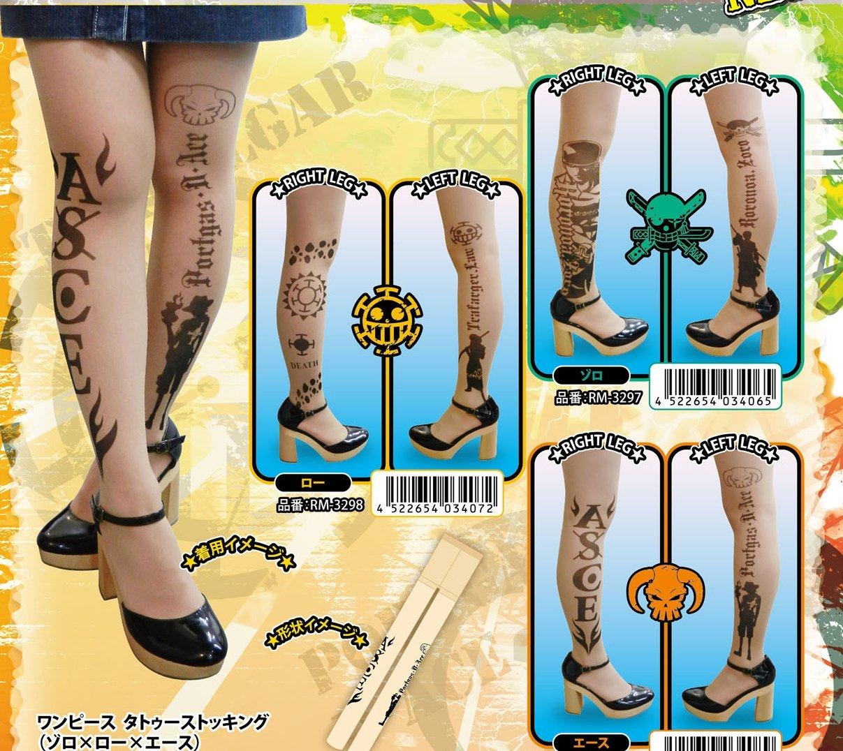 One Piece Zoro medias del tatuaje (jap?n importaci?n): Amazon.es ...