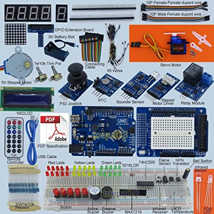 Amazon complete arduino uno r3 starter kit 43 items 3 books complete arduino uno r3 starter kit 43 items 3 books including a 170 publicscrutiny Choice Image