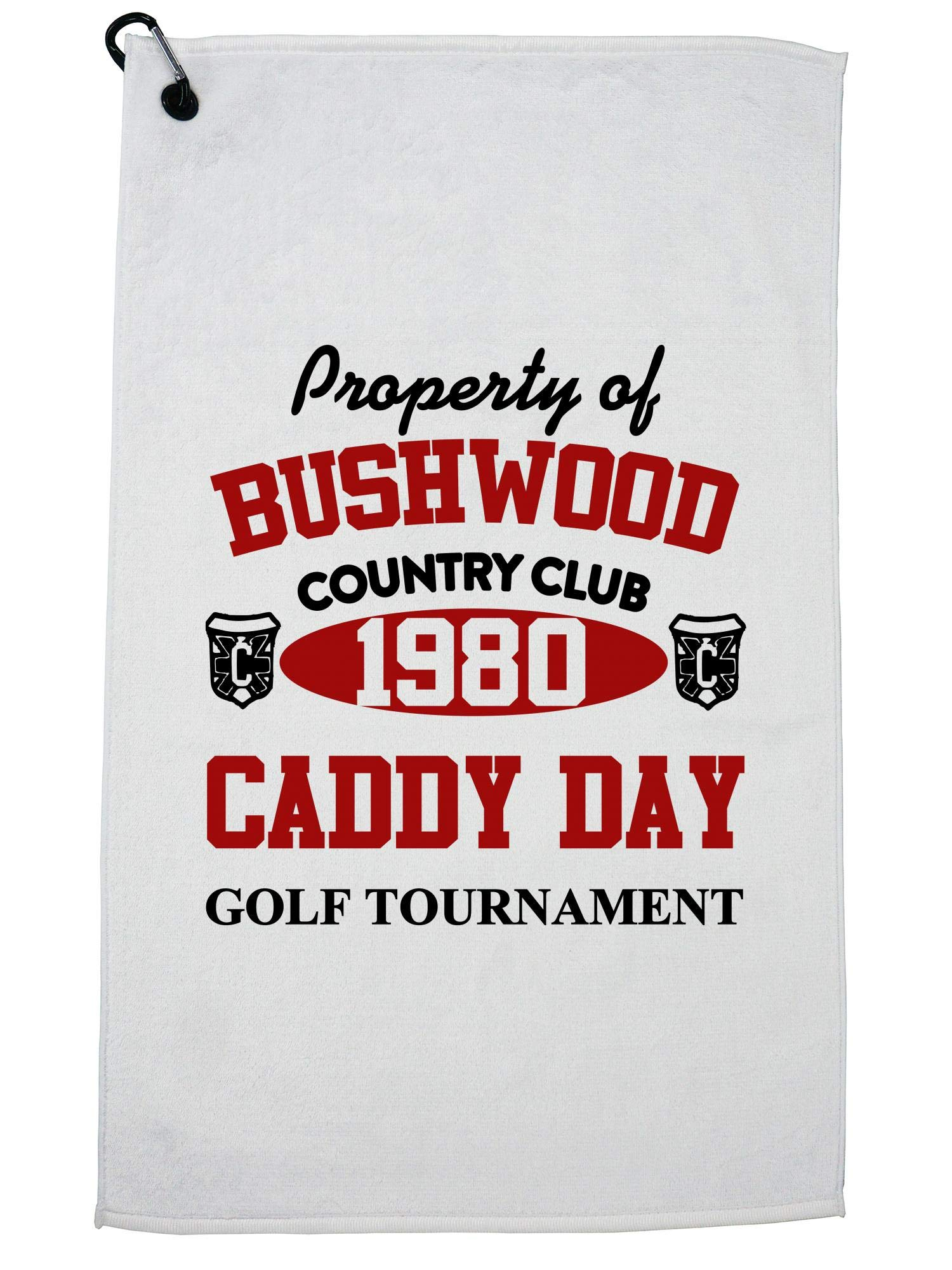 Hollywood Thread Property of Bushwood Country Club - Caddy Day Golf Towel with Carabiner Clip