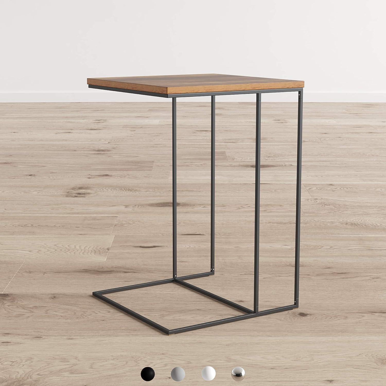 Bois Vintage Alana daspect en Bois Top Canap/é Side End Table pour Ordinateur Portable//Support de Console de canap/é