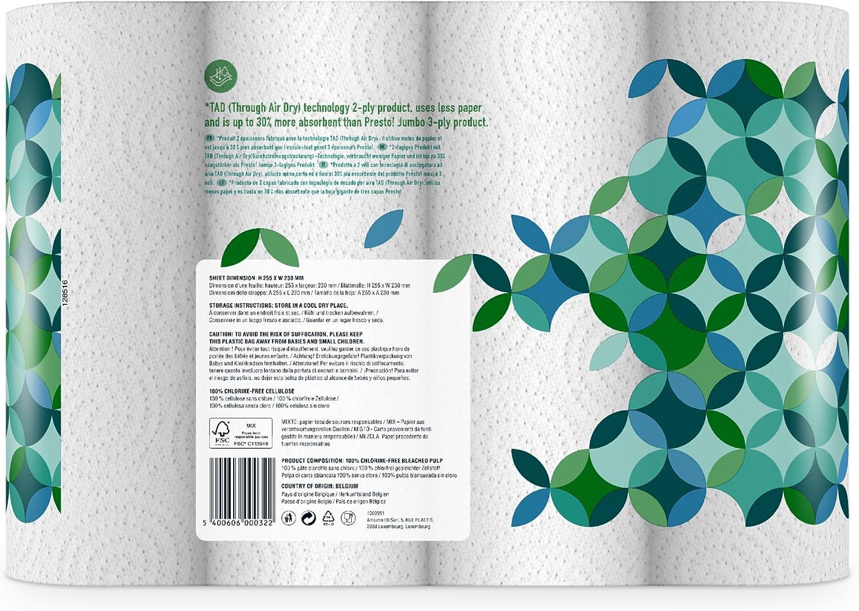 Marque Lot de 32 Presto 32 x 51 feuilles double /épaisseur Rouleaux dessuie-tout TAD