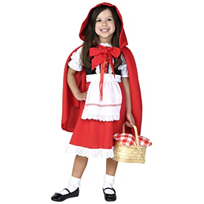 Deluxe Little Red Riding Hood Costume for Girls Kids Halloween Costume: Clothing