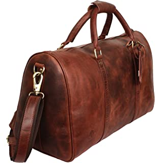 75468a62c2d5 Leather Duffel Bags For Men - Airplane Underseat Carry On Luggage By Rustic  Town