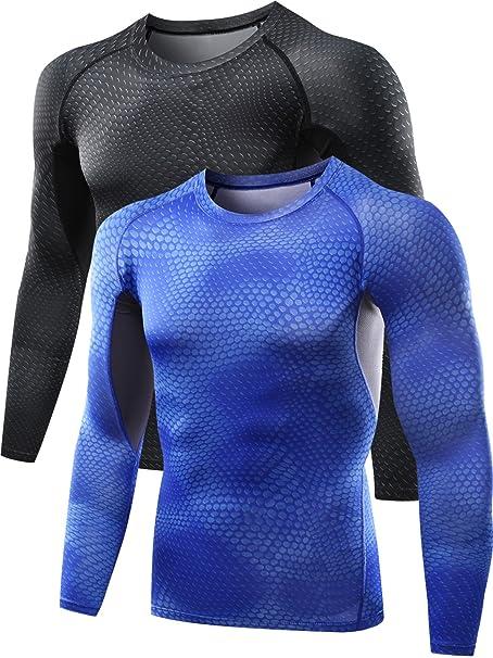 d7d82013e4b7 Neleus Men's 2 Pack Cool Dry Skin Baselayer Long Sleeve Compression T Shirts,5026,Black,Dark  Blue,M: Amazon.ca: Clothing & Accessories