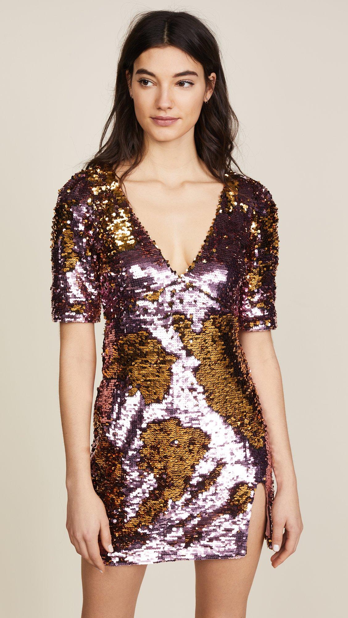 For Love & Lemons Women's Sparklers Party Dress, Dusty Rose, Medium by For Love & Lemons (Image #2)