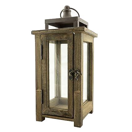 Amazon Stonebriar Decorative Wooden Candle Lantern Use As