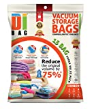 Amazon Price History for:Space Saver Vacuum Storage Bags - 15 Premium Travel Space Bags - Bag Size: Large XL & Medium - 2X Sealed Compression Plastic Bags For Clothing Storage , Clothes bedding & Packing - DIBAG