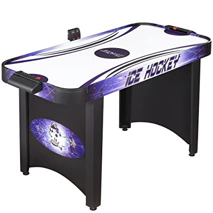 Hathaway Hat Trick 4-Ft Air Hockey Table for Kids and Adults with  Electronic and Manual Scoring, Leg Levelers
