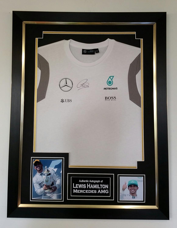 Neue Lewis Hamilton unterzeichnet Mercedes AMG Shirt: Amazon.de ...