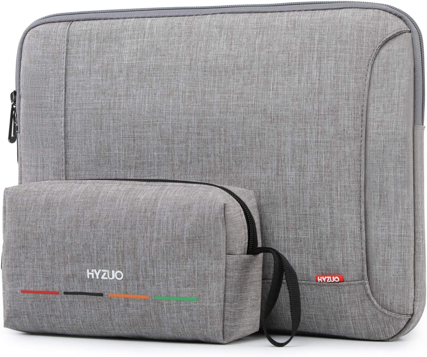 HYZUO 14 Inch Laptop Sleeve Case Compatible with IdeaPad 3 14/HP EliteBook 14/HP Pavilion 14/Surface Laptop 15/Acer Swift 3 14/HP Stream 14/Asus VivoBook 14/Huawei MateBook D 14, Light Gray