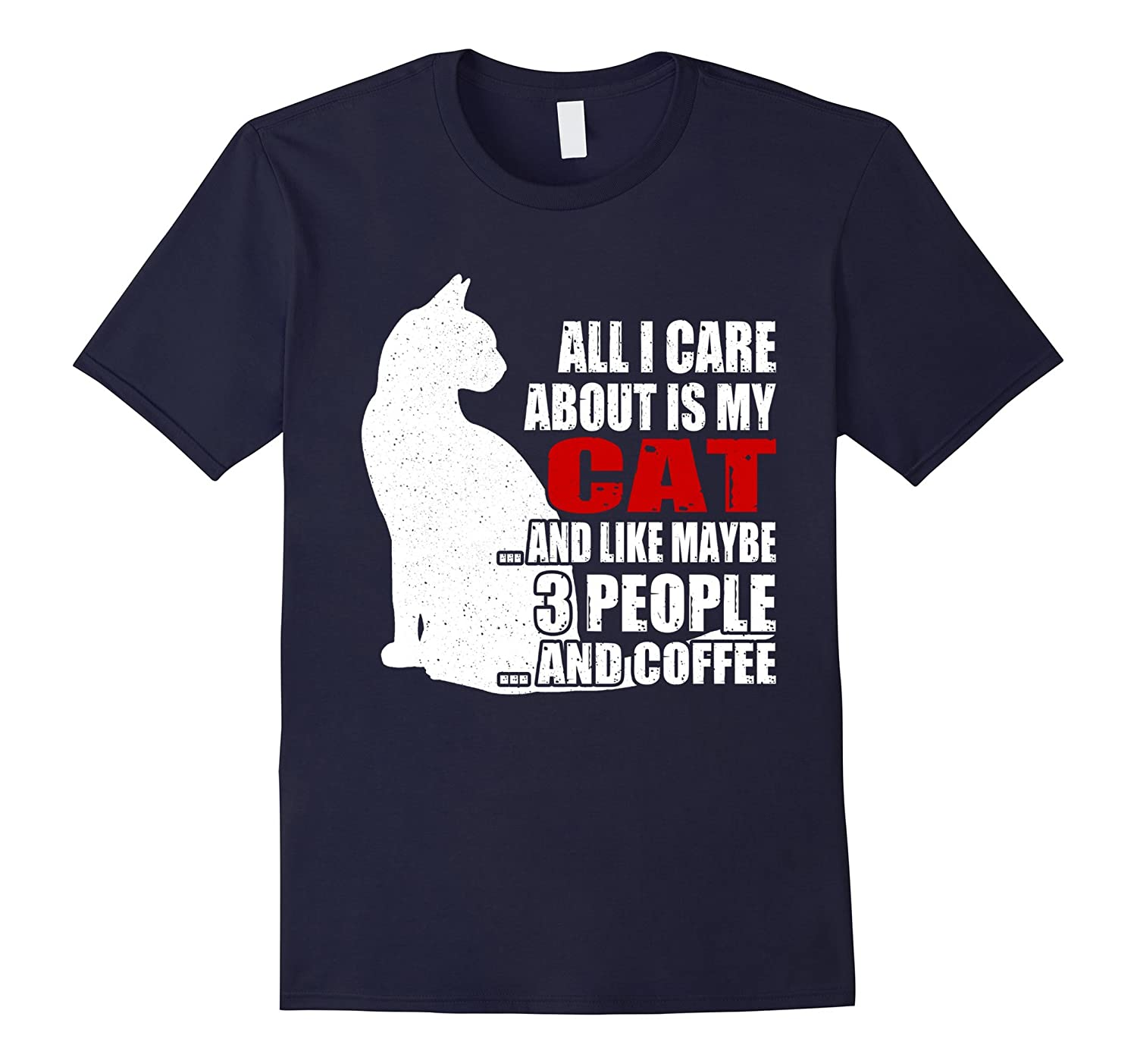 3 People Coffee Cat T-Shirt Gift Mommy Mom Dad Grandma-Vaci