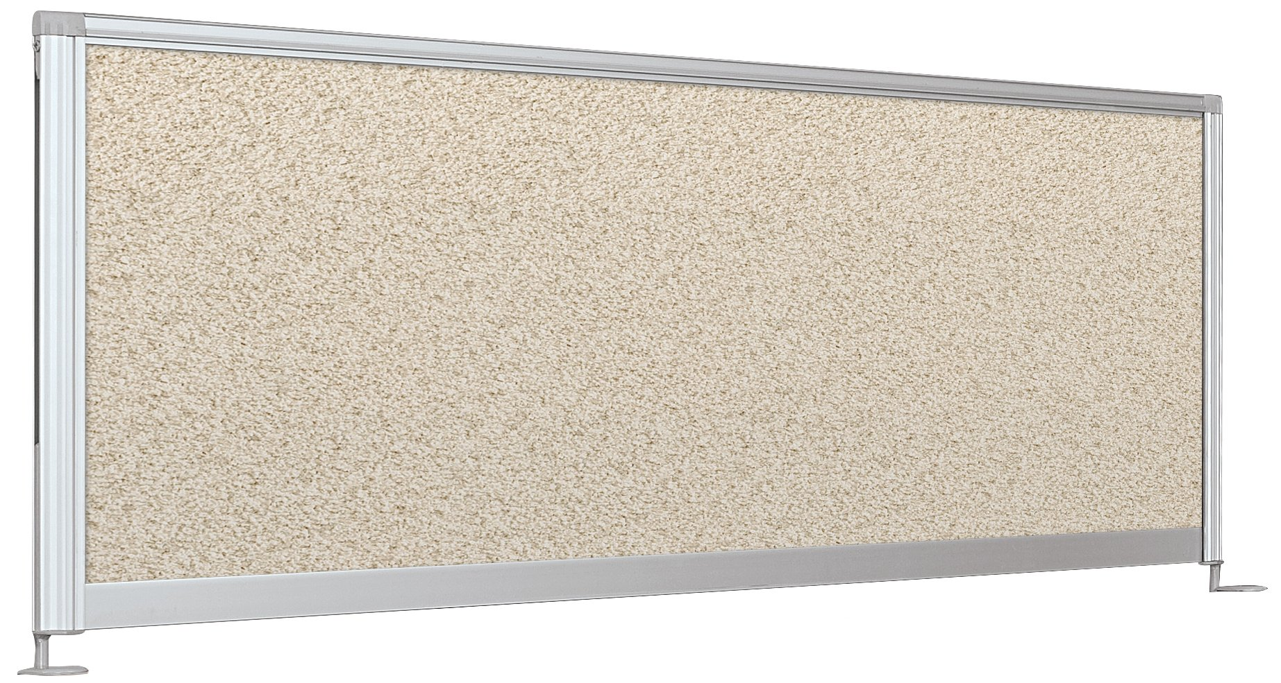 Balt Desktop Privacy Panel, 58-Inch Pebbles Vinyl Quarry by Balt