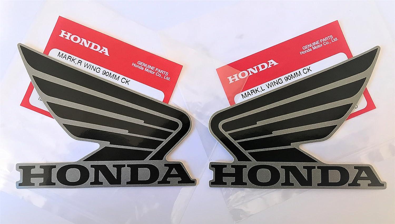 Honda Fl/ügel Kraftstofftank Benzintank Aufkleber 2 x 90mm matt Schie/ßpulver schwarz Metallisch links /& rechts 100/% Original