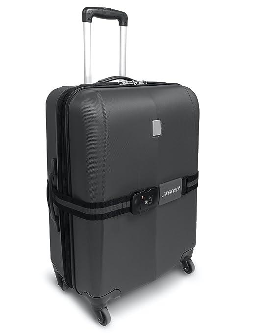 TSA Correas de Equipaje ELASTRAAP, Antideslizantes, Extra Seguridad para Viajes (Gris): Amazon.es: Equipaje