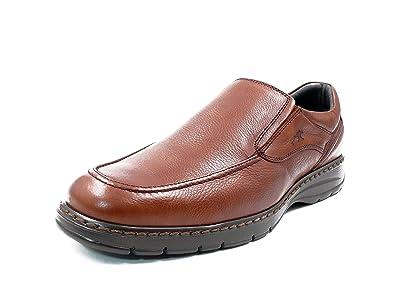 Zapatos Hombre Tipo Mocasin FLUCHOS, Piel Color Brandy - 9144-62c (40 EU