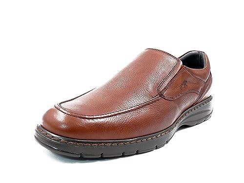 Zapatos Hombre Tipo Mocasin FLUCHOS, Piel Color Brandy - 9144-62c (39 EU