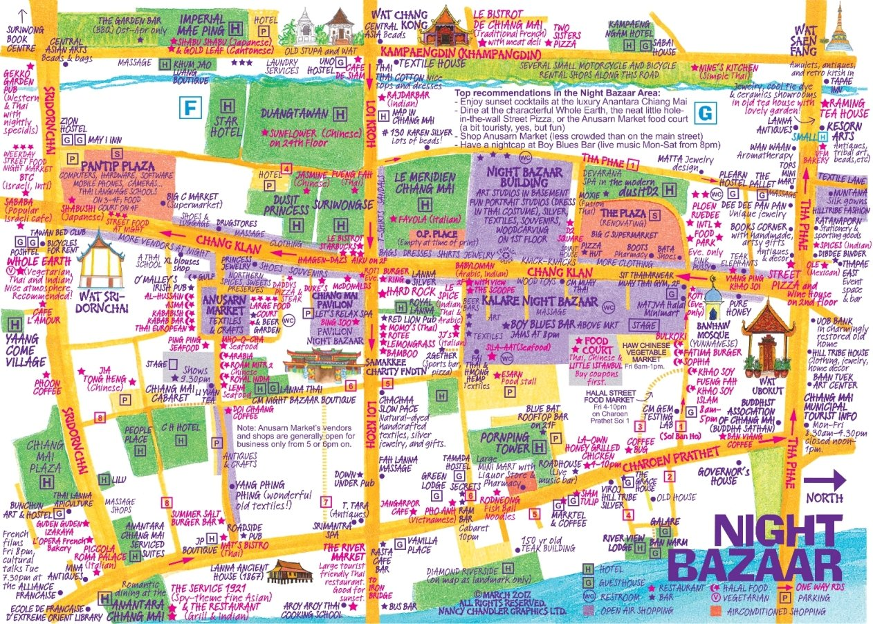 Nancy Chandlers Map of Chiang Mai 21st Edition Nima Chandler