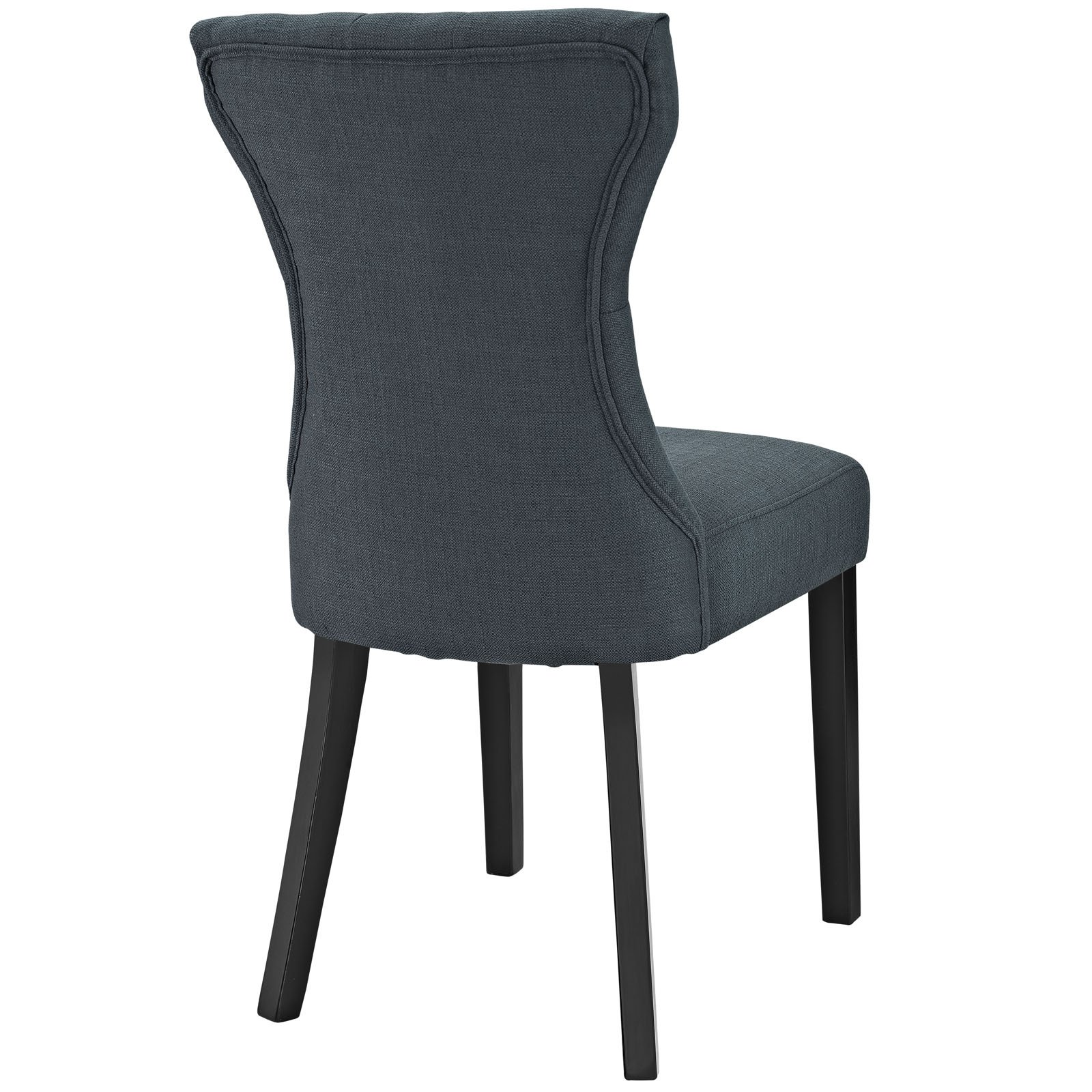 Modway Silhouette Tufted Upholstered Fabric Parsons Dining ...