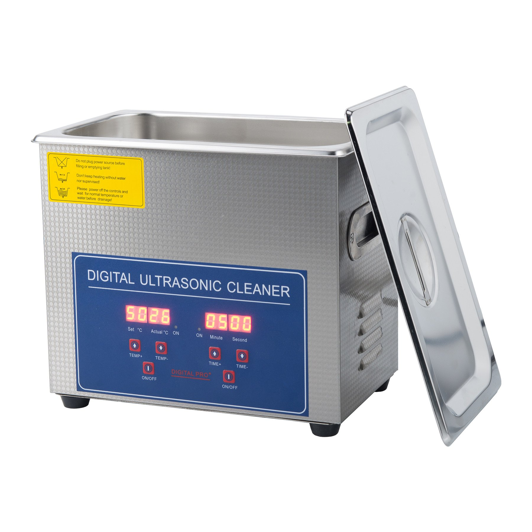 CO-Z 3L Stainless Steel Professional Ultrasonic Jewelry Denture Cleaner with Digital Timer & Heater