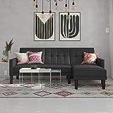 Amazon.com: DHP Emily Futon Couch Bed, Cuero, Cuero de ...