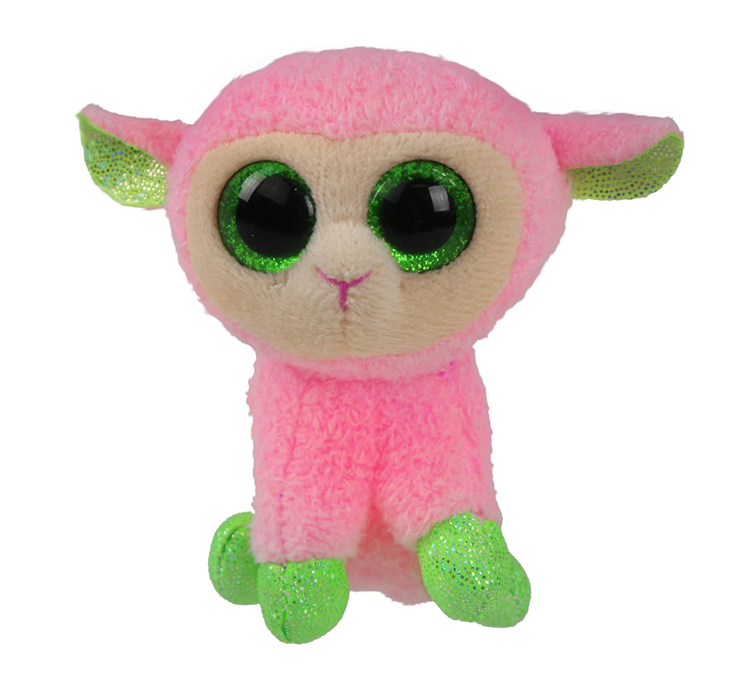 Amazon.com  Ty Basket Beanies Babs - Pink Lamb  Toys   Games 9442d89003a