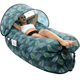 STEPIN Inflatable Lounger Air Sofa with Sunshade & Anti-Air Leaking Design,Best Inflatable Chairs for Beach Chair…