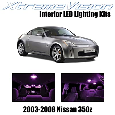 Xtremevision Interior LED for Nissan 350Z 2003-2008 (5 Pieces) Pink Interior LED Kit + Installation Tool: Automotive