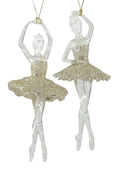 Amazon.com: Glittery Ballerinas Dancing Hanging Christmas Ornaments ...