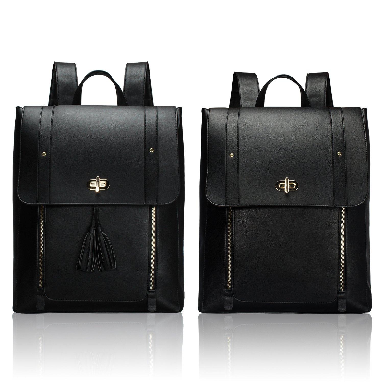 Estarer Womens Backpack Purse PU Leather Rucksack Fit 14-inch Laptop School Bag Daypack