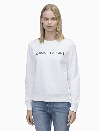 Calvin Klein J20J209760 Sudadera Mujer Blanco XL: Amazon.es: Ropa y accesorios
