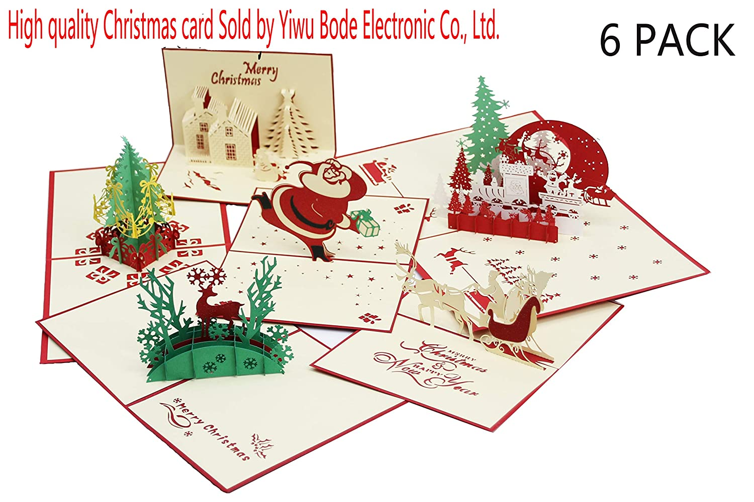 3D Christmas Greeting Cards Pop Up Handmade Holiday From Women Wife Girls Husband Friend