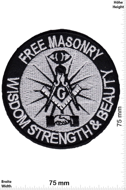Patch-Iron-Freimaurer - Free Masonry - Wisdom Strenght & Beauty - - Spirit - - Iron On Patches - Aufnä her Embleme Bü gelbild Aufbü gler