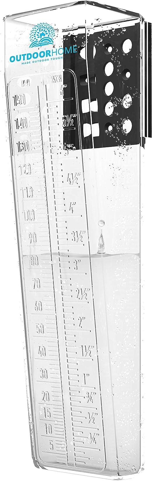 Pluviómetro 150mm Deluxe Heavy Duty Professional - Pluviómetro con escala de fácil lectura. El Pluviómetro para su Jardín y Patio. Perfecto para exteriores: Amazon.es: Jardín