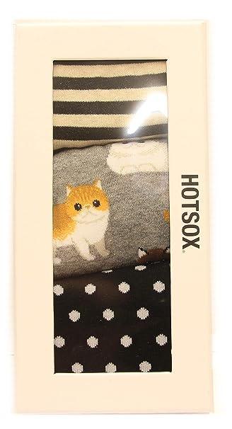 7af11e001609 Hotsox Women s Crew Persian Cats Gift Box Socks 3 Pair