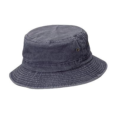 Dorfman Pacific Cotton Big and Tall Summer Bucket Hat 2XL 3XL f6c424b456c