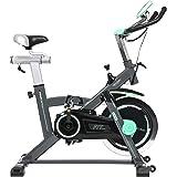 Cecotec Bicicleta Indoor Extreme20 20kg Volante inercia, Pulsómetro, Pantalla LCD, Resistencia Variable, Estabilizadores, SilenceFit, Completamente Regulable, Adultos Unisex, Negro/Gris/Verde