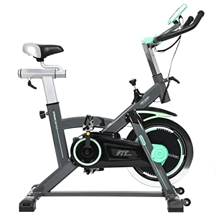 Cecotec Bicicleta Indoor,  Pulsómetro, Estabilizadores