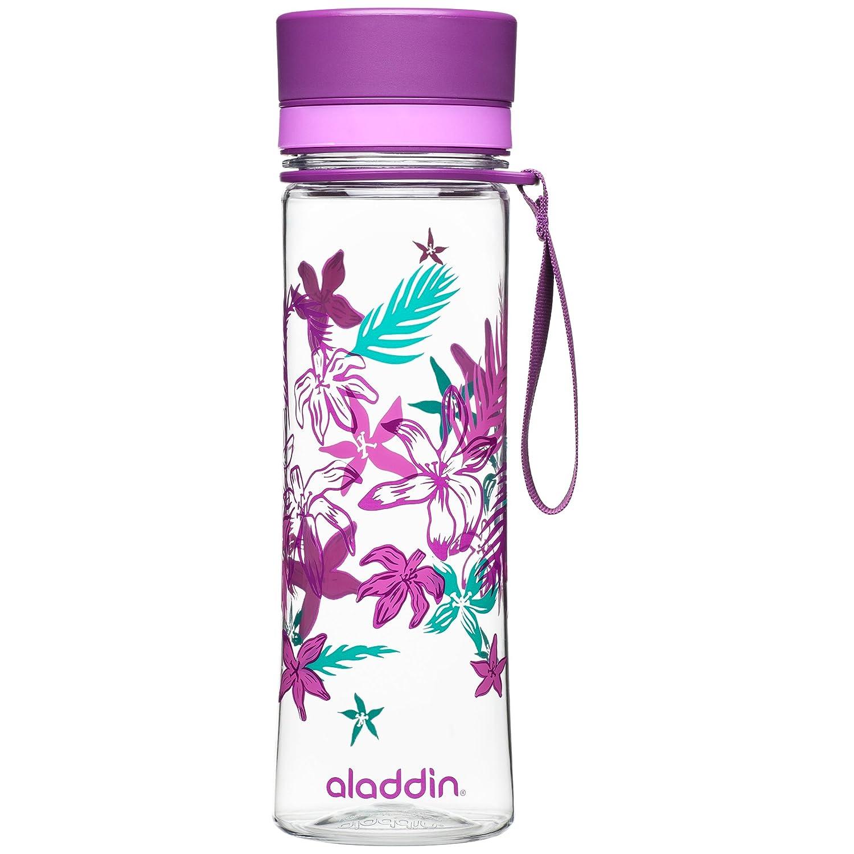 Aladdin Botella de Agua «Aveo», plástico, Purple Print, 0,6 litros: Amazon.es: Hogar