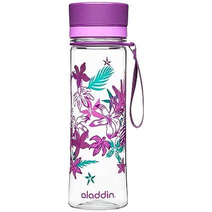 Aladdin Botella de Agua «Aveo», plástico, Purple Print, 0,6