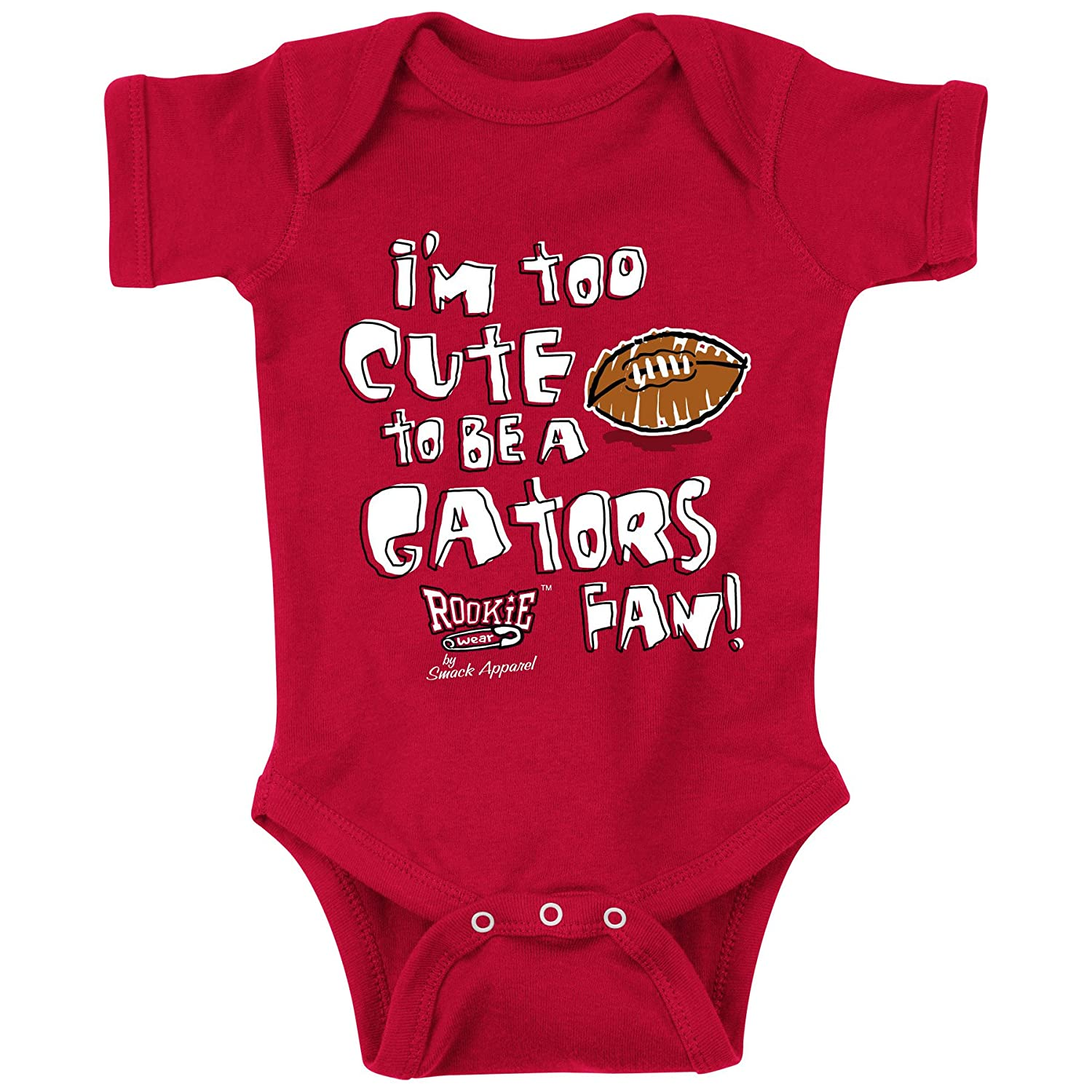 Rookie Wear by Smack Apparel Georgia Football Fans NB-18M or Toddler Tee Is it Just Me or do the Gators Stink!? Red Onesie 2T-3T