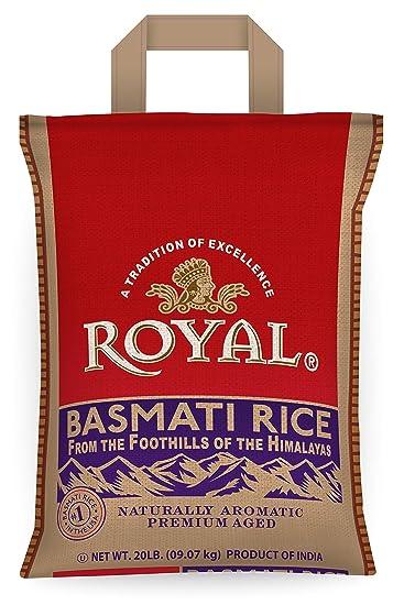 Royal White Basmati Rice, 20 Pound