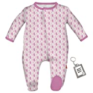 Magnetic Me Unisex Buttery Soft Modal Baby Footie Magnet Close Footed Sleeper Pajamas