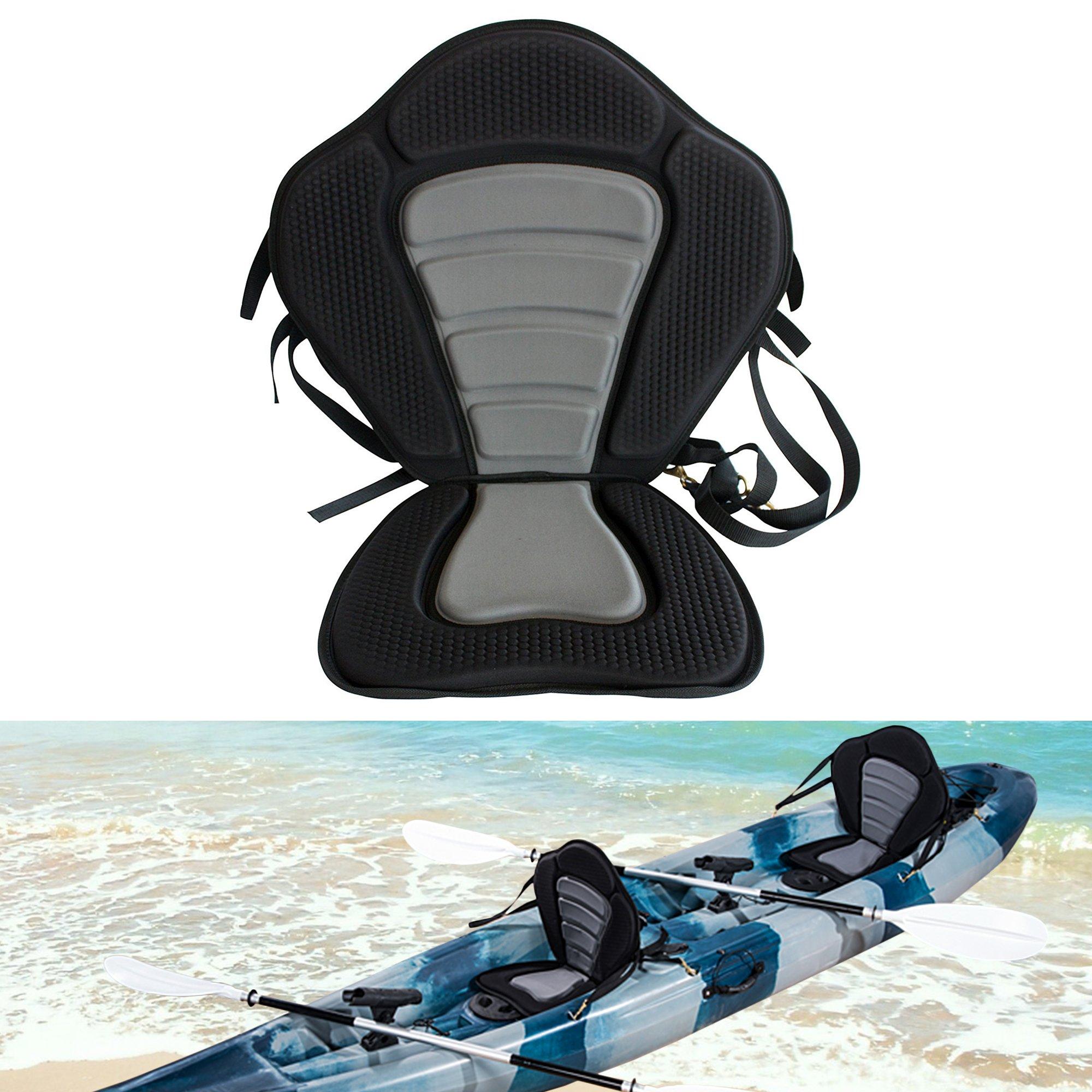 Welugnal Kayak Backrest Boating Seat,Luxury Adjustable Padded Kayak Seat Back by Welugnal