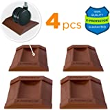 X-PROTECTOR Premium Furniture Cups 4 PCS. Rubber Caster Cups Furniture Coasters – Best Floor Protectors for ALL FLOORS & WHEELS. Protect Your Floors & Stop Furniture with Ideal Bed Stoppers!