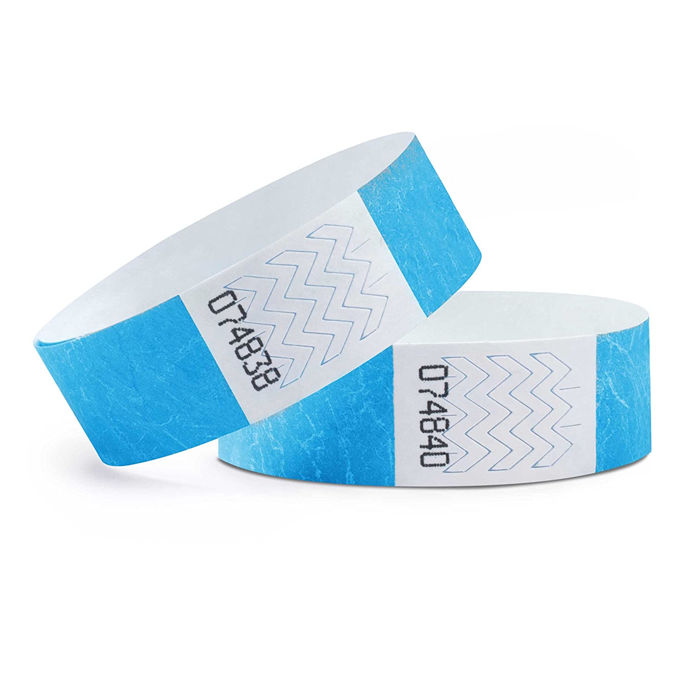 Azul Pack de 100 Pulseras de Seguridad Tyvek/® 19 mm linie zwo/®