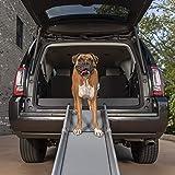 PetSafe Happy Ride Deluxe Compact Telescoping Pet Ramp, 28 in. – 70 in, Portable Lightweight Aluminum Dog Ramp, Carrying…