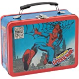 Vandor Marvel Spider-Man Large Tin Tote, 3.5 x 7.5 x 9 Inches (55525)